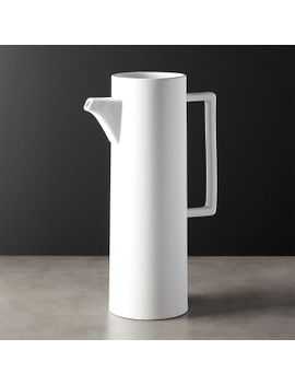 brace-white-pitcher by crate&barrel