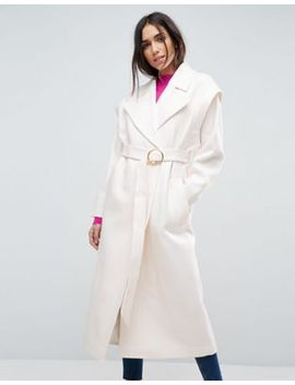 asos-belted-80s-coat-with-batwing-sleeve by asos-collection