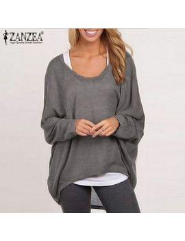 zanzea-plus-size-sweater-women-batwing-sleeve-blouse-2019-autumn-casual-loose-long-sleeve-tops-shirt-sweater-jumper-pullovers by aliexpresscom