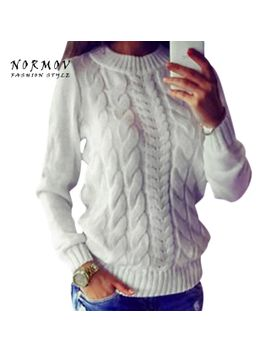 normov-sweater-women-spring-2018-europe-and-the-united-states-solid-round-long-sleeve-thick-women-knitted-sweaters-pullovers by aliexpresscom