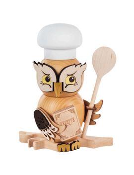 whimsical-owl-cook-chef-or-baker-german-wooden-incense-smoker-(incense-burner) by ebay-seller