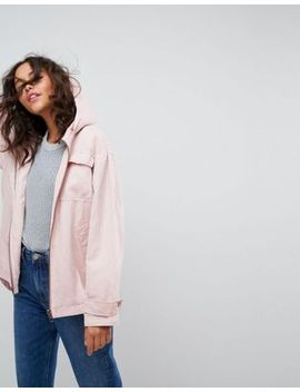 asos-washed-jacket-with-fleece-lining by asos-collection