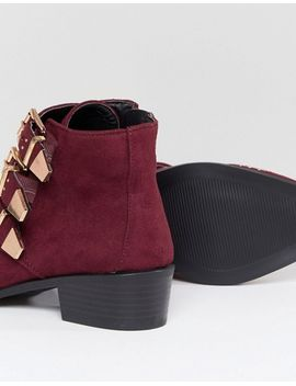 new-look-wide-fit-studded-western-flat-ankle-boot by new-look