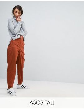 asos-tall-alanis-pants-with-belt-detail-in-rust by asos-tall