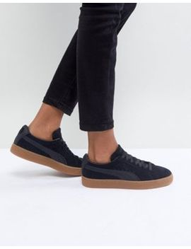 puma-suede-classic-sneakers-with-gum-sole-in-black by puma