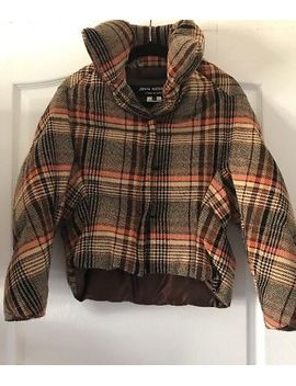 junya-watanabe-comme-des-garcons-brown-down-wool-short-jacket-buttons-sz-s-japan by ebay-seller