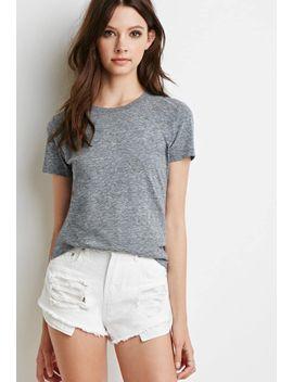camiseta-jaspeada-cuello-redondo by forever-21