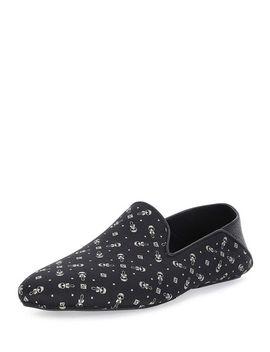 karlito-printed-evening-slipper,-black by fendi
