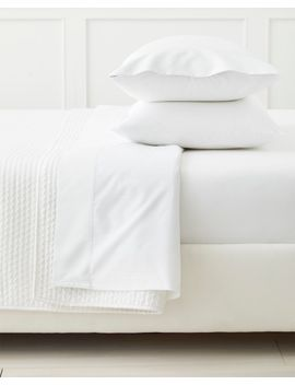 classic-white-percale-sheet-set by serena-and-lily