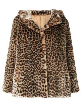 leopard-print-faux-fur-jacket by tagliatore