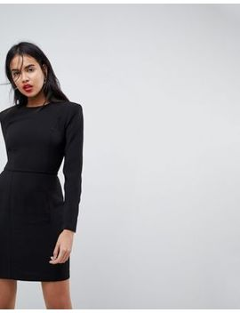 asos-design-long-sleeve-mini-dress-with-seams by asos-design