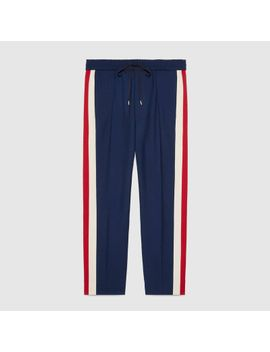 wool-cropped-pant-with-stripe by gucci