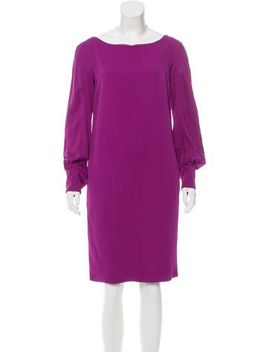 moschino-long-sleeve-shift-dress by moschino
