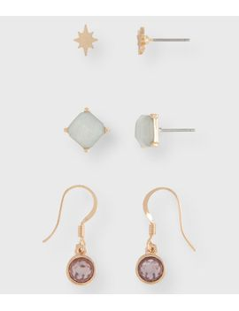 starburst-stud-&-french-wire-earring-3-pack by aeropostale