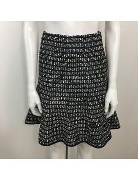 nanette-lepore-blue-white-fluted-skirt-size-4 by nanette-lepore