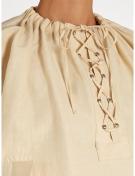 oversized-lace-up-sateen-blouse by jw-anderson