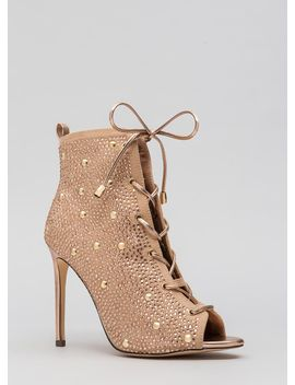 studs-and-stones-laced-metallic-booties by gojane