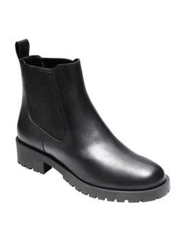 womens-cole-haan-jannie-waterproof-chelsea-bootie-ii-black-leather by cole-haan