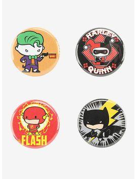 dc-comics-chibi-the-joker-harley-the-flash-&-batman-pin-4-pack by hot-topic