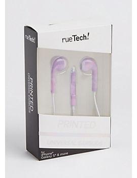 purple-ombre-metallic-earbuds by rue21