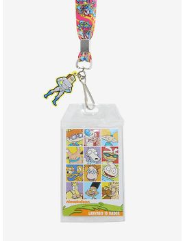the-ren-&-stimpy-show-character-logo-lanyard by hot-topic