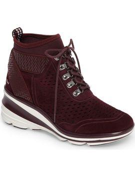 offbeat-perforated-wedge-sneaker by jambu