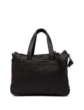 large-lambskin-leather-studded-satchel by liebeskind-berlin