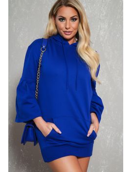 sexy-royal-blue-flare-short-sleeves-sweater-dress by ami-clubwear