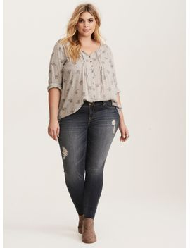 paisley-print-pleated-button-front-blouse by torrid