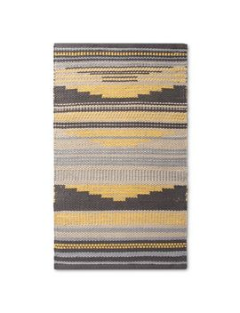 """yellow-geometric-woven-accent-rug---(18""""x210"""")---room-essentials by shop-collections"""