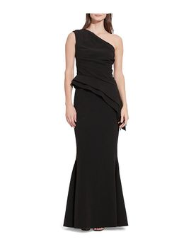 one-shoulder-asymmetrical-peplum-evening-gown by generic