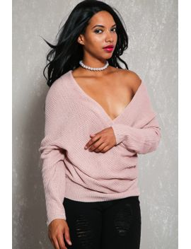 sexy-mauve-off-the-shoulders-long-sleeves-knit-sweater by ami-clubwear