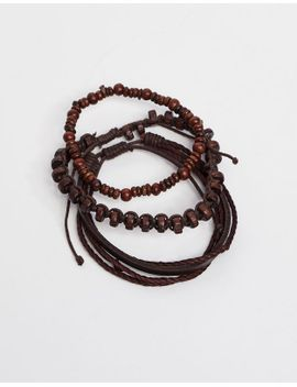 brown-leather-bracelet by pull-&-bear