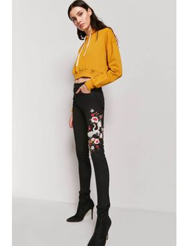 crane-embroidered-skinny-jeans by forever-21