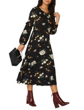 floral-jersey-midi-dress by dorothy-perkins