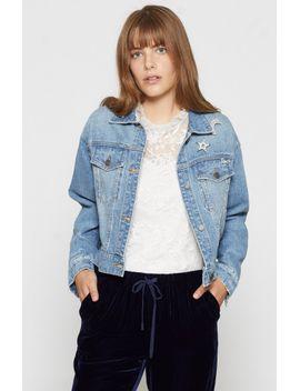 redmondia-denim-jacket by joie