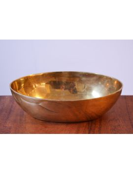 vintage-solid-brass-oval-bowl,-hollywood-regency-serving-bowl,-succulent-planter,-gold-decor by etsy