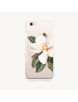 iphone-xs-case-magnolia-clear-rubber-iphone-xs-max-case-iphone-xr-case-iphone-x-case-iphone-8-case-iphone-8-plus-case-samsung-s9-case-u59 by etsy