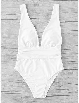 plunging-open-back-swimsuit by sheinside