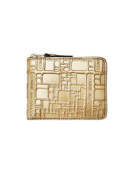 cdg-wallet-embossed-logo-(gold-sa7100eg) by dover-street-market
