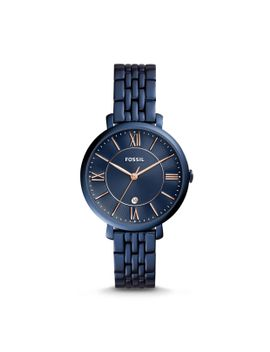 jacqueline-three-hand-date-blue-stainless-steel-watch by fossil