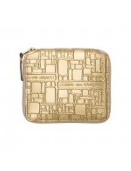 cdg-wallet-embossed-logo-(gold-sa2100eg) by dover-street-market