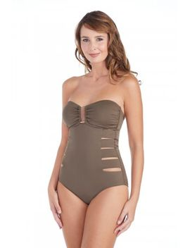 leilani-womens-st-tropez-solids-guyana-bandeau-one-piece-swimsuit by swimsuits