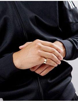 asos-gold-plain-band-pinky-ring by asos