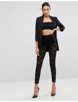 asos-all-over-lace-leggings-with-scallop-hem by asos-collection