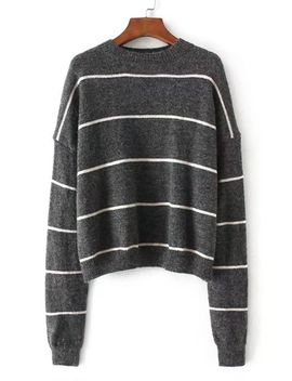 drop-shoulder-striped-jumper-sweater by sheinside