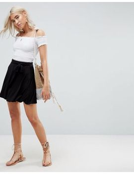 asos-mini-skater-skirt-with-self-belt by asos-collection