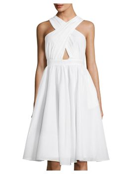 annabeth-crisscross-silk-blend-dress by catherine-malandrino