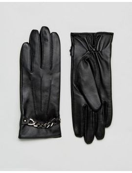 barneys-originals-real-leather-gloves-with-chain-detail by asos-brand