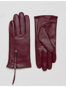 barneys-originals-real-leather-gloves-with-zip-detail by asos-brand